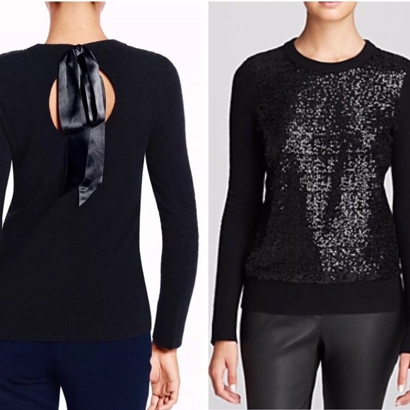 ee48fcb933a kate spade Sweaters - Kate Spade Fluffy Wool Sequin Sweater Thin Knit XL